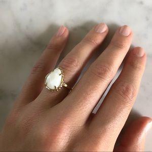 Kendra Scott white and gold Daisy ring